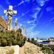 Montjuic Cemetery in Barcelona, Spain — Stock Photo