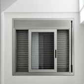 Window with roller shutter — Stock Photo