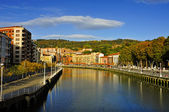 Estuary of Bilbao, in Bilbao, Spain — Stock Photo