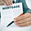 Stock Photo: Mortgage locontract