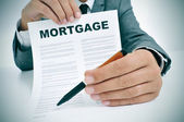 Mortgage loan contract — Stock Photo