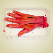 Scary amputated hand — Stock Photo