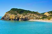 Mort domu plaży w sitges, hiszpania — Zdjęcie stockowe