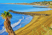Praia de playa del ingles em maspalomas, gran canaria, espanha — Fotografia Stock