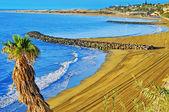 Pláž playa del ingles v maspalomas na ostrově gran canaria, španělsko — Stock fotografie