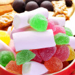 Candies and some typical christmas sweets in Spain like turron a — Stock Photo