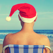 Christmas at the beach — Stock Photo