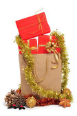 Gift in a shopping bag — Stock Photo