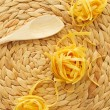 Uncooked tagliatelle — Stock Photo