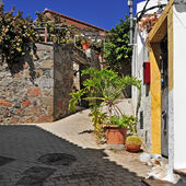 Street of Fataga, Gran Canaria, Spain — Stock Photo