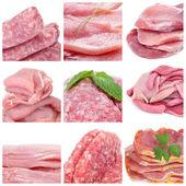 Colagem de carne crua — Fotografia Stock