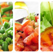 Salads collage — Stockfoto #35213277