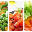 Stock Photo: Salads collage