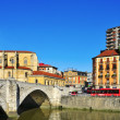 Постер, плакат: Nervion River and San Anton Church in Bilbao Spain