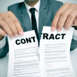 Stock Photo: Rip up contract