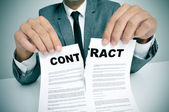 Rip up the contract — Stock Photo