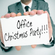 Office christmas party — Stock Photo