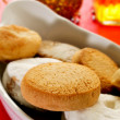 Mantecados and polvorones, typical christmas sweets in Spain — Stock Photo