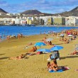 Stock Photo: Las Canteras Beach in Las Palmas, GrCanaria, Spain