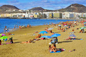 Las Canteras Beach in Las Palmas, Gran Canaria, Spain — Stock Photo