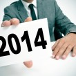 Stock Photo: 2014, as the new year