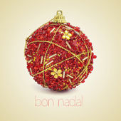 Bon nadal, merry christmas in catalan — Stock Photo
