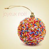 Joyeux noel, merry christmas in french — Stock Photo