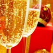 Champagne and gifts — Stock Photo #36769217