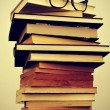 Stock Photo: Books and eyeglasses