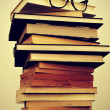 Books and eyeglasses — Foto de Stock