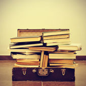 Books in a suitcase — Stock Photo