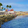 Playa de Maspalomas beach in Maspalomas, Gran Canaria, Spain — Stock Photo