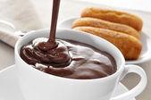 Spanish hot chocolate — Stockfoto