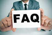 FAQ, Frequently Asked Questions — Stock Photo