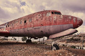 Ramshackle airplane — Stock Photo