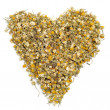 Stock Photo: Chamomile heart