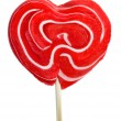 Heart-shaped lollipop — Stock Photo