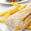 Durum and doner kebab — Stock Photo