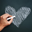 Man hand drawing a heart — Stock Photo #38110279