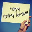 Happy spring break — Stock Photo #39018835
