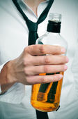 Drunk businessman — Stock Photo