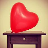 Heart-shaped balloon — Stock Photo