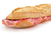 Spanish bocadillo de lomo embuchado, a sandwich with cold meats — Stock Photo
