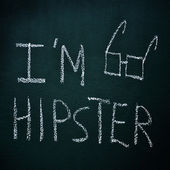 I am hipster — Stock Photo