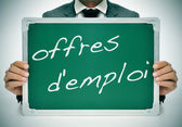 Offres d'emploi, jobs in french — Stock Photo