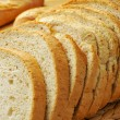 Slices of pan de payes, a round bread typical of Catalonia, Spai — Stock Photo