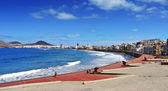在西班牙大加那利岛拉斯帕尔马,根特拉斯海滩 — 图库照片