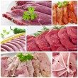 Raw meat collage — Stock Photo
