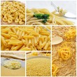 Pasta collage — Stock Photo