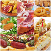 Collage di tapas spagnole — Foto Stock